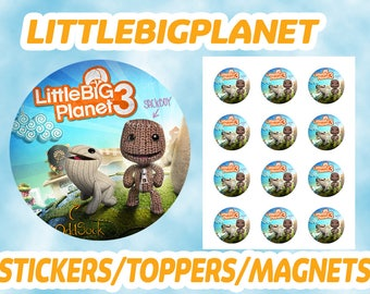 Little Big Planet Stickers / Toppers / Magnets DIGITAL FILE ONLY