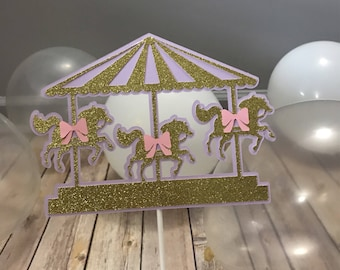 Lavender/Gold Carousel Centerpiece