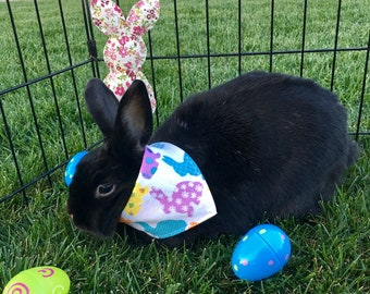 Bunny Hops - Easter - reversible pet bandana - dog bandana - cat bandana - unique pet accessory