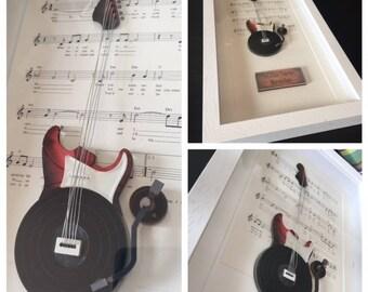 Custom Made Music Art - Example - As My Guitar Gently Weeps - The Beatles