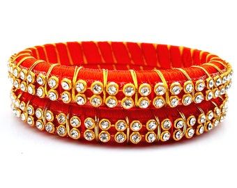 Silk Thread Bangle with Zari