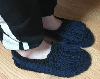 Crochet moccasin slippers