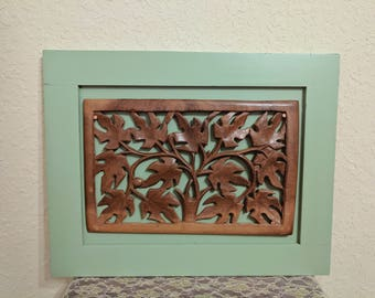 Hand Carved Oak Tree Wall Décor