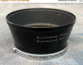Ernst Leitz GmbH Wetzlar Summaron 3.5cm and Summicron 5cm Metal Lens Hood.