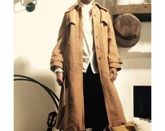 1980s Vintage Heavy Winter Warm Wool Jacket Coat