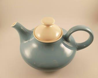 Super Cute Vintage Genie -Shaped Pottery Teapot! 1950's Possible Blue Heaven Pattern