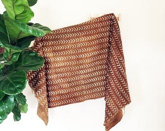 Tricia | Burnt Orange White Arrow | Handmade African mud cloth