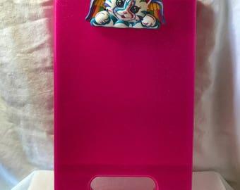 1990's Lisa Frank Angel Kitty, Be Creative Clipboard/Art Box