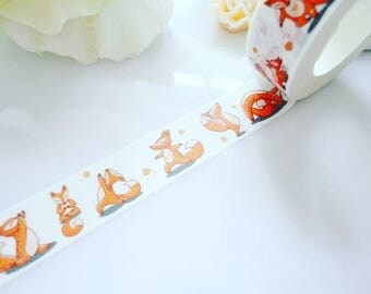 Cute Fox Washi Tape Animal Stationery Masking Deco Tape
