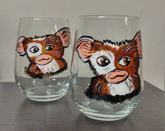 GIZMO GREMLINS WINEGLASSES (2) pair