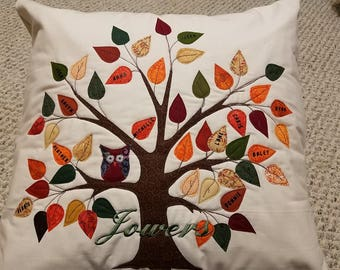 Family Tree, Quilted and Embroidered, Personalized for you!