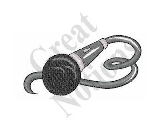 Microphone - Machine Embroidery Design