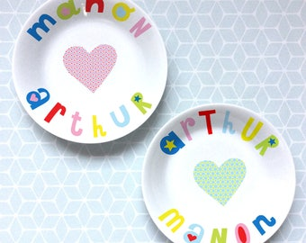 soup plates-2 hearts - wedding gift