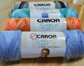 Caron Simply Soft Ombre Yarn