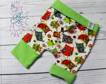 Green 6-36 months, owls bands scalable shorts