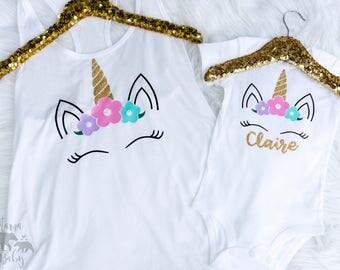 Adult Size Unicorn Tank Top, Junior Unicorn Tank Top, Unicorn Onesie, Unicorn Shirt, Girls Unicorn Birthday Outfit, Ladies Unicorn Tank Top