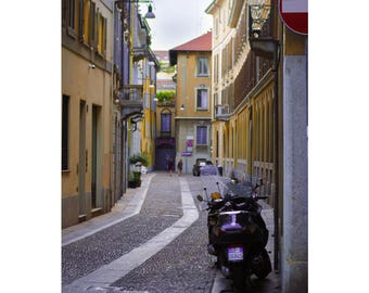 Italy photography Milan photography Street photography Travel photo Italian streets Wall art Decor Digital photography Photo notecard