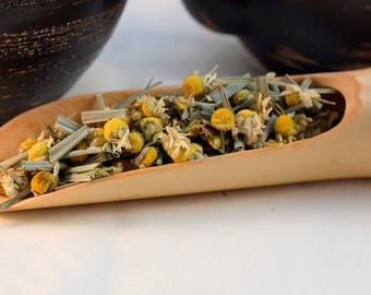Camomile and Lemongrass, Loose Leaf Herbal Blend, Chamomile, 50g resealable pouch,