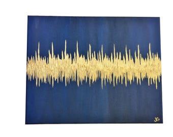 Nursery Art, Baby Room Art, Baby Heartbeat Painting, Sonogram Art, 24x30, Sonogram Painting, Sound Wave Painting, Ultrasound Art, Nursery