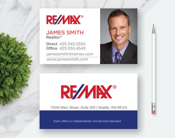 Remax business card real estate remax business card remax business card real estate remax business card printable custom personalized business card 35 x 2 printable digital file colourmoves