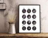 Affiche illustration aquarelle astrologie constellation planète numérique