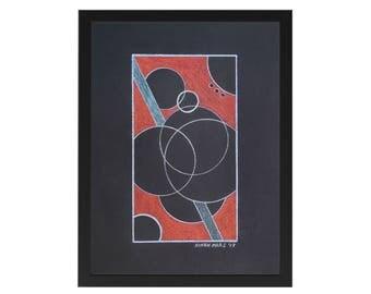 Circles on Black 1 - Original artwork by Ninah Mars