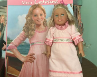 American girl mini doll Caroline plus book