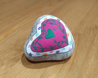 My Love Keeps Growing - Painted Stone