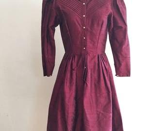 1980 Raw silk dress