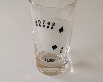 Vintage Playing Card Juice Glass