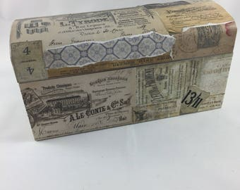 Wooden Decoupaged Jewelry Box