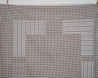 Tablecloth - Brown and White Gingham