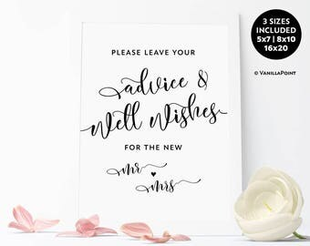 advice and well wishes sign wedding advice sign advice for the bride and groom