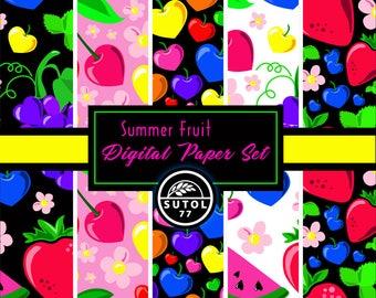 Summer Fruit Digital Paper Set