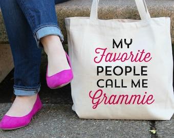 My Favorite People call me Grammie Canvas Tote Bag