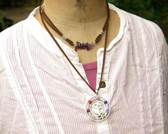 7 Chakras Ohm, Stones Chakra Reiki, Charms Pendants, Health Amulet, Healing Stone, Charms Chakra, Reiki, Healing