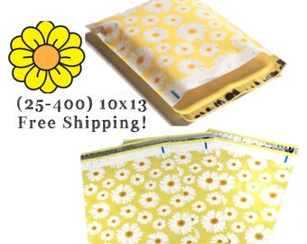 """FREE SHIPPING! (25-400 Pack) 10x13"""" Daisy's Designer Poly Mailers"""