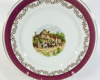 HEINRICH & Co Selb Bavaria Gold Porcelain collectible Plate 50 hand painted Decorations '