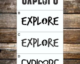 Explore Nature Decal / 12 Colors / Word Decal / Nature Decals / Laptop Decals / Car Decals / Adventure Decals / Computer Decals
