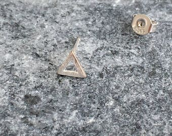 Sterling Silver 5 mm Triangle Tragus Earring.