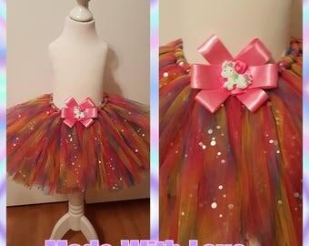 Rainbow unicorn tutu skirt