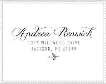 Return address stamp TYPOGRAPHIC 002