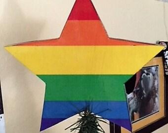 Gay Pride Tree Topper, Gay Pride Star Tree Topper, Gay Christmas Tree Topper, Gay Pride Christmas,Gay Christmas Tree Topper, Gay Tree Topper
