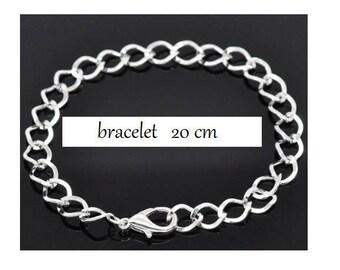 20cm (W01) silver Mesh Bracelet