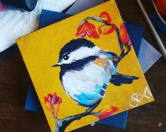 Little Chickadee Original Painting