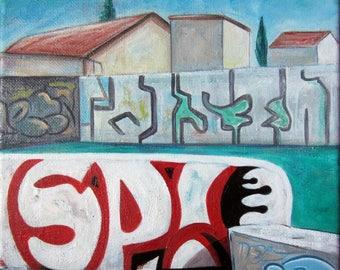 LANDSCAPE Urban II - Painting street art