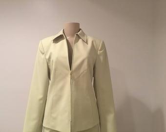 Women's 2 Piece Kasper A.S.L. Petite Suit, Chartreuse/Mint Green, Size 8