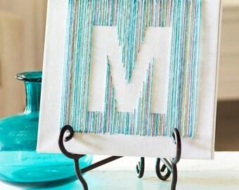 Yarn Monogram Letter Canvas