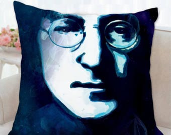 John Lennon pillow, Imagine cushion, couch cushion, Lennon cushion, sofa pillows covers, rock music fan gift, musician gift, sofa decor