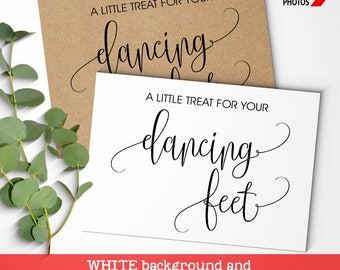 Dancing Feet Sign Flip Flop basket wedding sign Treat for your dancing feet Reception Signage printable KRAFT Instant download SG07 D101